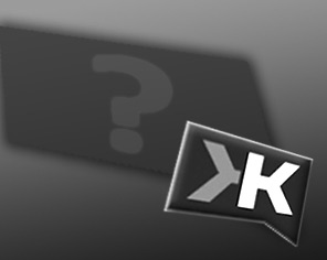 Klout logo look alike with a dark shadow holding a lighter question mark in black and white conjuring up questions about what Klout says about you.
